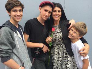 Audrey & her boys
