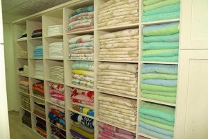 Linen for the hundreds of beds for our children