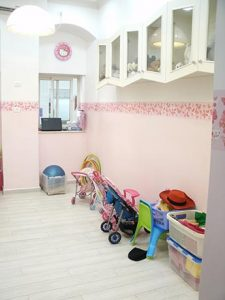 And this is the play room for the very small kids