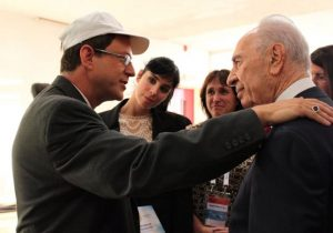 With Shimon Peres