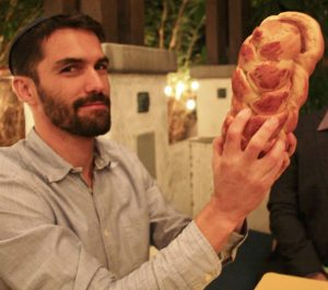Yuval with challah